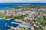 aerial photo, aerial pictures, Borgholm, drone aerial, gästhamn, harbour, oland, port, samhällen, small-boat harbour, summer