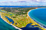 aerial photo, aerial pictures, drone aerial, Falsterbo, Falsterbobukten, Falsterbohus, golf course, landscapes, lighthouse, samhällen, Skåne, summer, Vång