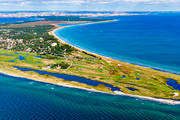 aerial photo, aerial pictures, drone aerial, Falsterbo, Falsterbobukten, golf course, landscapes, lighthouse, samhällen, Skåne, summer, Vång