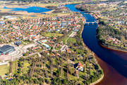 aerial photo, aerial pictures, community, Dalarna, drone aerial, Leksand, samhällen, spring