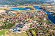 aerial photo, aerial pictures, community, Dalarna, drone aerial, Leksand, Noret, samhällen, spring