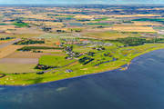 aerial photo, aerial pictures, coast, drone aerial, golf course, Kurland, landscapes, samhällen, Skåne, summer, Trelleborg