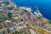 aerial photo, aerial pictures, Almedalen, city, drone aerial, flygfoton, Other Sweden, port, ringmuren, städer, summer, Visby