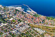 aerial photo, aerial photos, Almedalen, city, drone aerial, Other Sweden, port, ringmuren, städer, summer, Visby