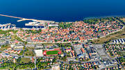 aerial photo, aerial pictures, city, drone aerial, flygfoton, Other Sweden, ringmuren, städer, summer, Visby
