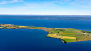 aerial photo, aerial pictures, drone aerial, landscapes, Småland, summer, Visingsö