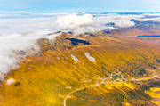 aerial photos, aerial picture, aerial pictures, autumn, flygbilder, Kittelfjall, landscapes, Lapland, mountain pictures, samhällen