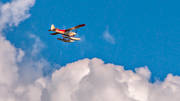 aeroplane, aviation, cloud, communications, flight, fly, Lapland, SE-EPF, seaplane, seaplane, swedish mountains