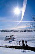 aviation, communications, fly, North Reindeer lake, ski flight, spring-winter, sun, winter, winter flying