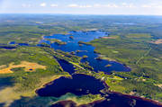 aerial photo, aerial pictures, Ammerån, angling, drone aerial, fishing spots, Jamtland