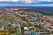 aerial photo, aerial pictures, Arboga, drone aerial, evening light, städer, summer, Västmanland