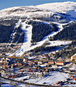 aerial photo, aerial pictures, Are, Areskutan, community, drone aerial, Jamtland, mountain, samhällen