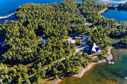 aerial photos, aerial picture, aerial pictures, Arrenjarka, autumn, cottage village, chalet complex, flygbilder, installations, landscapes, Lapland, mountain village, Saggat