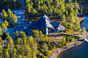 aerial photos, aerial picture, aerial pictures, Arrenjarka, autumn, cottage village, chalet complex, flygbilder, huvudbyggnad, installations, landscapes, Lapland, mountain village