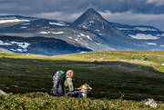 alpine, alpine hiking, alpine landscape, back-packer, back-packing, landscapes, Lapland, mountain, mountain nature, mountain top, mountain visit, mountains, nature, outdoor life, Slugga, sommarfjäll, summer