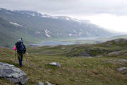 alpine hiking, back-packer, back-packing, national park, Padjelanta, summer, äventyr