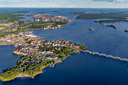 aerial photo, aerial pictures, Bergnäsbron, bridge, drone aerial, Lulea, North Bothnia, städer, summer