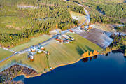 aerial photo, aerial photos, autumn, Bear lake, Björnön, drone aerial, farms, Jamtland, Revsundssjön