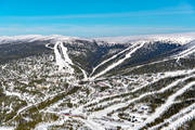 aerial photo, aerial pictures, Björnrike, drone aerial, Herjedalen, installations, ski resort, ski resort, ski slopes, winter