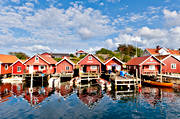 boat-houses, Bohuslän, cabins, coast, fishing, Havstenssund, samhällen, sea, seasons, summer, work