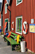 boat harbour, boat-house, boat-houses, buildings, engineering projects, loran, Lorudden, Löruddens Hamn, Medelpad, quay, small boat harbour, summer