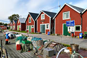 boat-houses, buildings, engineering projects, fishing tackle, fishing village, Löruddens Hamn, Medelpad, summer