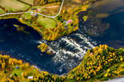 aerial photos, aerial picture, aerial pictures, are river, autumn, Bodsjösundet, fishing spots, flygbilder, Jamtland, watercourse