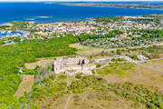 aerial photo, aerial pictures, Borgholm, Borgholms, castle ruin, drone aerial, engineering projects, installations, oland, ruin, samhällen, summer