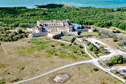 aerial photo, aerial photos, Borgholm, Borgholms, castle ruin, drone aerial, landscapes, oland, ruin, summer