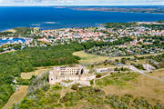 aerial photo, aerial photo, aerial photos, aerial photos, Borgholm, Borgholms, castle ruin, drone aerial, engineering projects, installations, landscapes, oland, ruin, summer