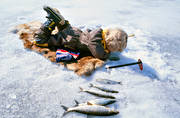 angling, boy, children, fishing, ice fishing, ice fishing, whitefish, whitefish fishery, winter fishing