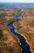 aerial photos, aerial picture, aerial pictures, angling, autumn, Brattbackforsen, fishing spots, flygbilder, Jamtland, Langan, watercourse
