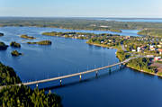 aerial photos, Blue Highway, drone aerial, Holmen, Holmsund, landscapes, samhällen, summer, Ume river, West Bothnia