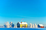 atmosphere, buildings, bygdegården, cabins, cottage, farms, Jamtland, season, seasons, Valbacken, winter