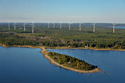 aerial photo, Byviksgrundet, drone aerial, environment, Gråberglandet, installations, landscapes, nature, summer, vindkraftpark, West Bothnia, wind power, wind power plants