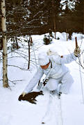 bird hunting, capercaillie, capercaillie hunter, capercaillie hunting, capercaillie hunting, hunter, hunting, winter