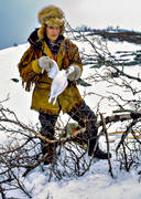 hunting, ptarmigan, snaring, trapper, trapping, white grouse hunt, white grouse snaring, winter