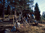 big forest, charcoal, charcoal, charcoal cabin, charcoal kiln, charcoal pit, forestry, wasteland, wilderness, woodland, work