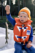 angling, children, fishing, life-jacket, air-jacket, northern pike fishing, pike, reel, reel fishing, spin fishing, spinning