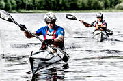 bike, biking, competition, kayak, lake, nature, outdoor life, sport, tube, paddle, water sports, watercourse, äventyr