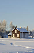 ambience, ambience pictures, atmosphere, buildings, cabins, christmas ambience, christmas card, cottage, countryside, deserted farm, engineering projects, Lapland, wasteland, winter