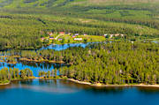 aerial photo, aerial pictures, Arrenjarka, cottage village, chalet complex, drone aerial, farms, Kassavare, landscapes, Lapland, Saggat, summer