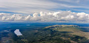 aerial photo, Burusjön, cloud layer, cumulus clouds, Dalarna, drone aerial, landscapes, mountain, mountain, mountain pictures, Nipfjället, summer