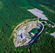 aerial photo, anläggnignar, community, Dalarna, Dalhalla, drone aerial, engineering projects, konserthall, mine, samhällen, stone pit, quarry, summer
