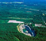 aerial photos, aerial picture, aerial pictures, anläggnignar, community, Dalarna, Dalhalla, engineering projects, flygbilder, konserthall, mine, samhällen, stone pit, quarry, summer