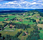 aerial photo, drone aerial, Duvberg, Herjedalen, idylls, landscapes, samhällen, summer, villages
