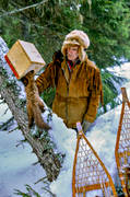 beating trap, bergstrand, hunting, marten trap, trapper, trappern bergstrand, trapping, winter