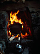boil, charcoal, charcoal cabin, charcoal kiln, charcoal pit, coffee fireplace, coffee pot, cooking, fire, fireplace, forestry, kittel, wasteland, wilderness, woodland, work