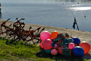 anchor, bridge, buoys, communications, fishing, flöten, quay, sea, shipping, water, work