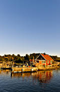 bridge, cabins, fishing, installations, sea, seasons, summer, Västergötland, work